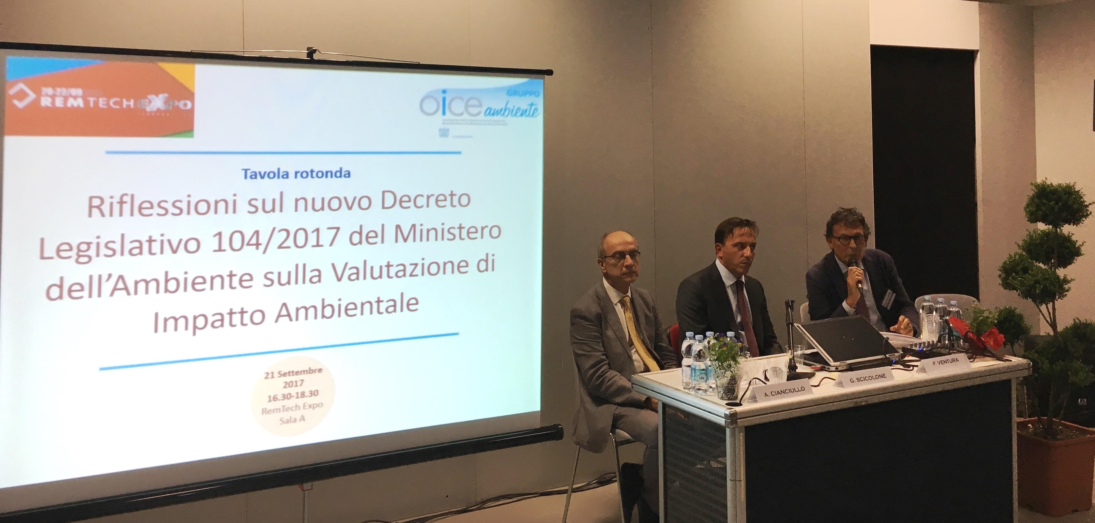 La seconda parte del Workshop ha proposto una serie di interventi da parte dei responsabili del settore ambientale di alcune delle societ Associate OICE