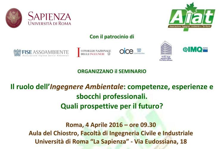 "Workshop ""Il ruolo dell'Ingegnere Ambientale"